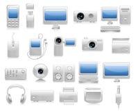 Ilustração da eletrônica Foto de Stock