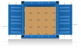 Ilustração da entrega da carga do conceito Foto de Stock