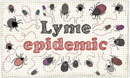 Ilustração da epidemia de Lyme ilustração do vetor