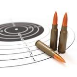Ilustração da escala de tiro e do conceito 3d do alvo Fotografia de Stock Royalty Free
