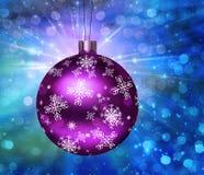 Ilustração da esfera da árvore de Natal ilustração do vetor