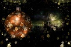 Ilustração da esfera da árvore de Natal ilustração royalty free
