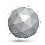 ilustração da esfera da tecnologia do sumário do vetor 3D, perspectiva Imagens de Stock