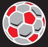 Ilustração da esfera de futebol Imagem de Stock
