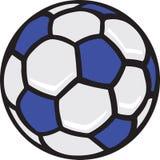 Ilustração da esfera de futebol Fotos de Stock