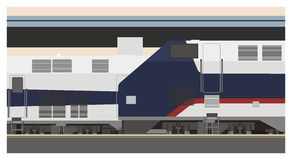 Ilustração da estação de trem Foto de Stock