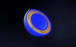 Ilustração da estrutura 3D da Bi-camada do lipossoma Fotos de Stock Royalty Free