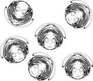 Ilustração da face da menina Fotografia de Stock