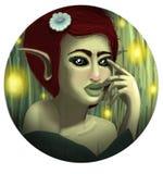 Ilustração da fada da fantasia da floresta ilustração royalty free