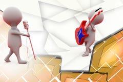 ilustração da faixa da música do homem 3d Fotografia de Stock Royalty Free