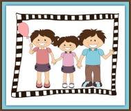 Ilustração da família feliz dos desenhos animados Fotografia de Stock