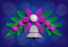 Ilustração da festão de Christmass com elementos do roxo e da prata Imagens de Stock Royalty Free