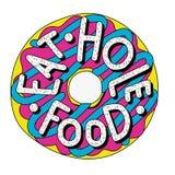 Ilustração da filhós Coma o alimento do furo ilustração do vetor