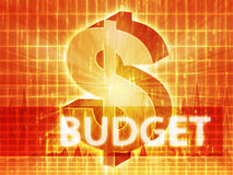 Ilustração da finança do orçamento Fotos de Stock Royalty Free