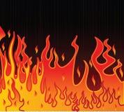 Ilustração da flama em um fundo preto ilustração stock