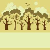 Ilustração da floresta decíduo verde imagem de stock