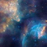 A ilustração da galáxia, fundo com estrelas, nebulosa do espaço, cosmos nubla-se ilustração do vetor