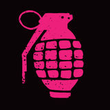 Ilustração da granada de mão Fotos de Stock