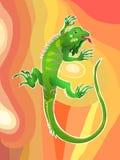 Ilustração 01 da iguana Fotos de Stock Royalty Free