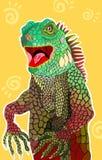 Ilustração 02 da iguana Fotos de Stock Royalty Free
