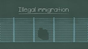 Ilustração da imigração ilegal ilustração royalty free
