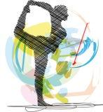 Ilustração da ioga. Fotos de Stock