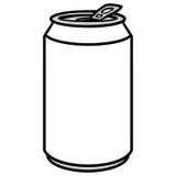 Ilustração da lata de soda ilustração do vetor