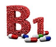 Ilustração da letra B1 feita da vitamina Branco isolado Imagens de Stock Royalty Free