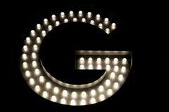 Ilustração da letra G foto de stock