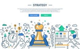Ilustração da linha moderna estratégia de projeto lisa Imagem de Stock Royalty Free
