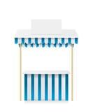 Ilustração da loja da tenda do mercado Imagens de Stock Royalty Free
