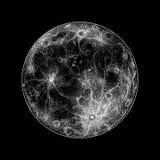 Ilustração da Lua cheia Foto de Stock
