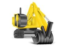 Ilustração da máquina escavadora Imagem de Stock Royalty Free