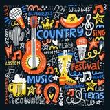 Ilustração da música country Foto de Stock Royalty Free
