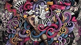 Ilustração da música das garatujas Fundo musical creativo ilustração do vetor