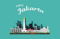 Ilustração da marca de terra da cidade Fotografia de Stock