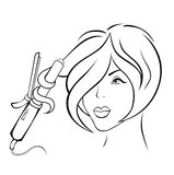 Ilustração da menina ilustração royalty free