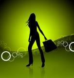 Ilustração da menina de compra Fotos de Stock