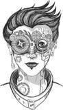 Ilustração da menina de Steampunk ilustração stock