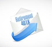 ilustração da mensagem de correio eletrónico da aposentadoria 401k Fotografia de Stock