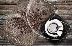 Ilustração da metáfora da ruptura de café Fotografia de Stock