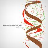 Ilustração da molécula do ADN Foto de Stock