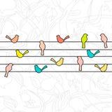 Ilustração da mola com pássaros Foto de Stock Royalty Free