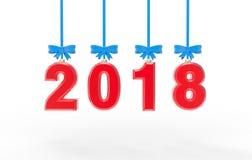 Ilustração da mosca 3d do ano novo 2018 Imagens de Stock