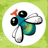 Ilustração da mosca engraçada Imagens de Stock Royalty Free