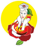 Ilustração da mulher Imagem de Stock