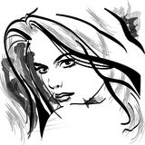 Ilustração da mulher Fotografia de Stock Royalty Free