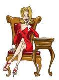 Ilustração da mulher Imagens de Stock