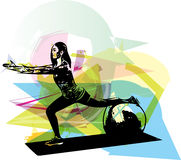 Ilustração da mulher da ioga ilustração do vetor