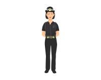 Ilustração da mulher da polícia Imagem de Stock